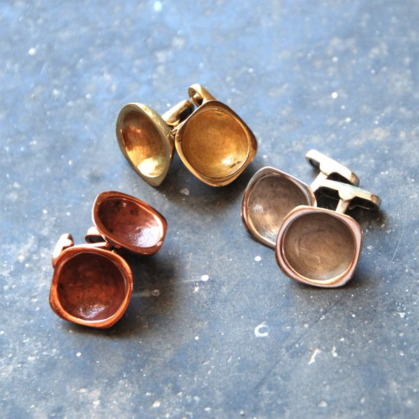 Cufflinks - Bronze / Copper / Silver
